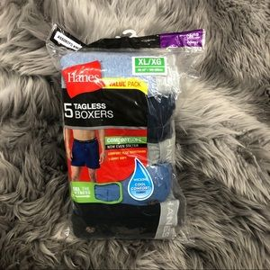 Hanes Tagless Boxers: 5 Pack (PM1393)